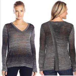 PrAna Grey Julien Split Back Sweater